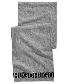 Hugo Boss Men's Knit Logo Scarf