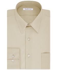 Van Heusen Men's Tall Classic/Regular Fit Wrinkle Free Poplin Solid Dress Shirt