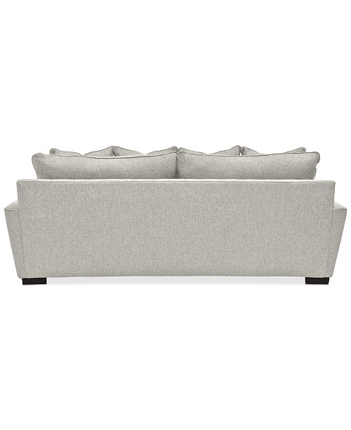 "Furniture Ainsley Fabric Sectional Collection Created For: Furniture Ainsley 101"" Fabric Queen Sleeper Sofa, Created"