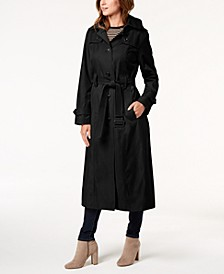 Petite Belted Maxi Trench Coat