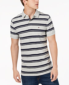 Tommy Hilfiger Men's Striped Slim Fit Polo, Created for Macy's