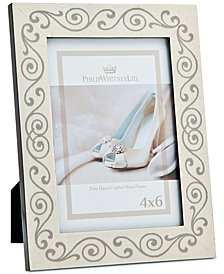 """Philip Whitney 4"""" x 6"""" Bridal Scroll Picture Frame"""
