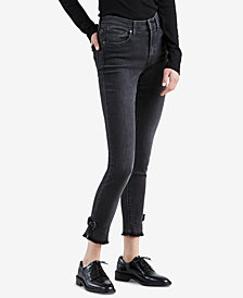 Levi's® 721 Bow-Trim High Rise Skinny Ankle Jeans