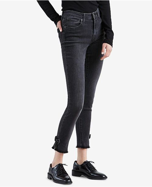 e20f9382 Levi's 721 Bow-Trim High Rise Skinny Ankle Jeans & Reviews - Jeans ...