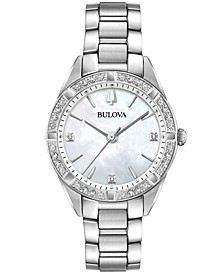 Women's Sutton Diamond (1/10 ct. t.w.) Stainless Steel Bracelet Watch 32.5mm