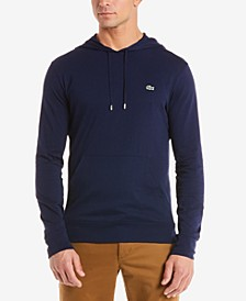 Hoodie Jersey Long Sleeve Tee Shirt with Kangaroo Pocket
