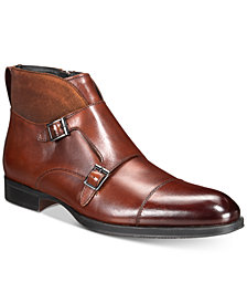 AlfaTech by Alfani Men's Callan Double Monk Boots, Created for Macy's