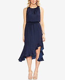 Vince Camuto Solid Ruffle Blouson Dress