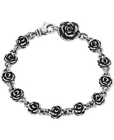 King Baby Rose Link Bracelet in Sterling Silver