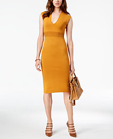MICHAEL Michael Kors V-Neck Cap-Sleeve Dress