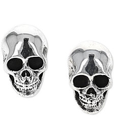 King Baby Women's Rock n' Roll Stud Earrings in Sterling Silver