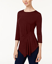 Vince Camuto Gathered Asymmetrical Top