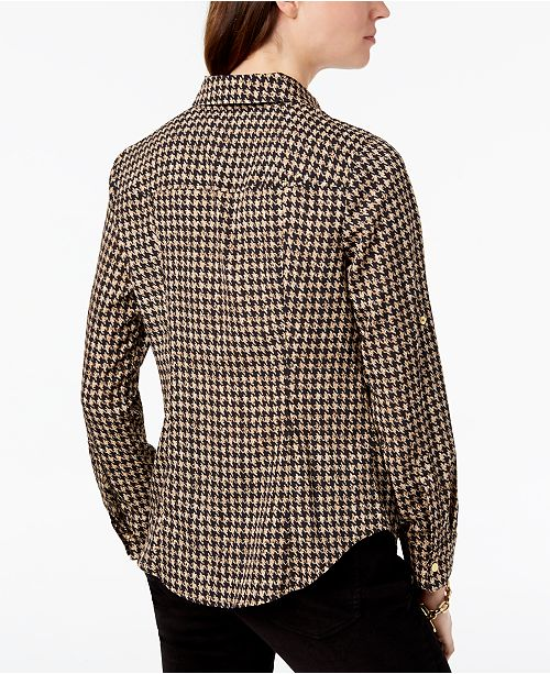 9fdfa0f16888f Michael Kors Lock Zip-Front Shirt, In Regular & Petite Sizes ...