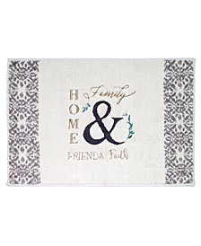 "Avanti Modern Farmhouse Cotton Embroidered 20"" x 30"" Bath Rug"