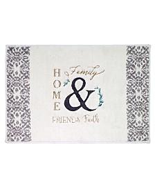 "Avanti Modern Farmhouse Cotton Embroidered 20"" x 30"" Bath Rug"
