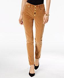 MICHAEL Michael Kors Button-Fly Corduroy Pants