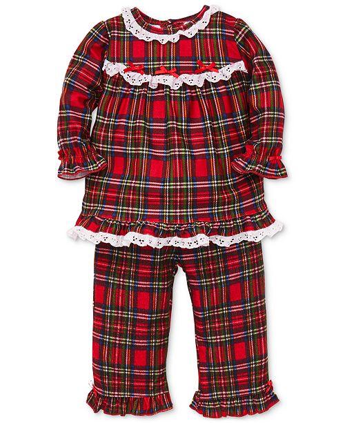 54e97679b Little Me Baby Girls 2-Pc. Plaid   Lace Pajama Set   Reviews - Sets ...