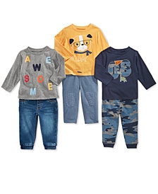First Impressions Baby Boys T-Shirts & Jogger Pants, Created for Macy's