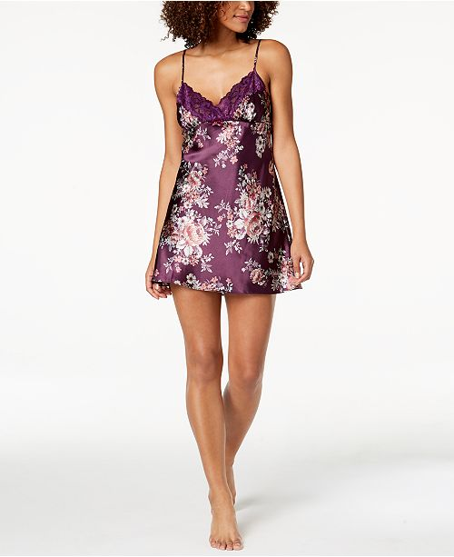 Trim Vine Created Sodi for Chemise Blackberry Macy's Printed Lace Thalia qgSwRWTtw