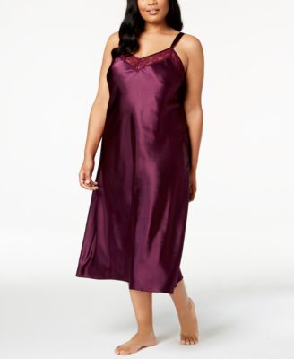 Plus Size Lace-Trimmed Nightgown, Created for Macy's