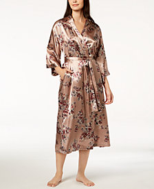 Thalia Sodi Floral-Print Charmeuse Robe, Created for Macy's