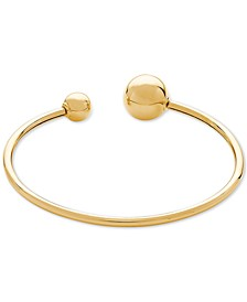 Polished Bead Cuff Bracelet in 14k Gold
