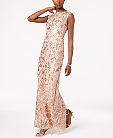 Adrianna Papell Sleeveless Sequin-Embellished Dress