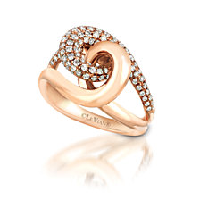 Le Vian® Knots™ Vanilla Diamonds® (3/4 ct. t.w.) Ring in 14k Rose Gold