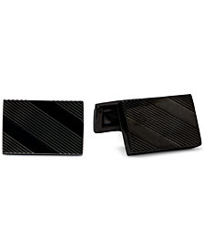 Ryan Seacrest Distinction™ Men's Textured Stripe Cuff Links, Created for Macy's