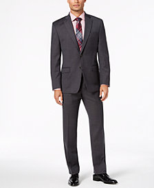 Lauren Ralph Lauren Men's Classic-Fit UltraFlex Stretch Black Birdseye  Suit