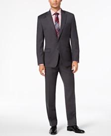 Lauren Ralph Lauren Men's Classic-Fit UltraFlex Stretch Black Birdseye  Suit