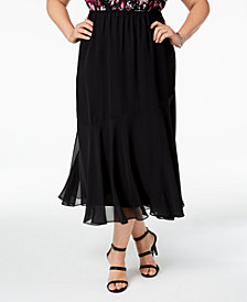 Alex Evenings Plus Size Chiffon Midi Skirt
