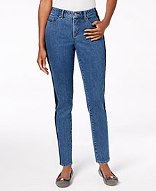 Charter Club Bristol Skinny Side-Stripe Ankle Jeans, Created for Macy's