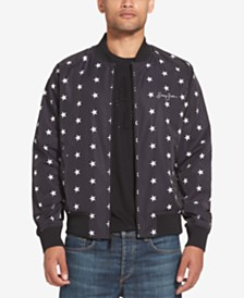 Sean John Men's Star-Print Legacy Bomber Jacket