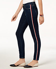 Tommy Hilfiger Side-Stripe Skinny Jeans, Created for Macy's