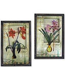 Nearly Natural French Floral 2-Pc. Framed Art Print Set