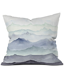 Deny Designs Wonder Forest Mountain Mist Throw Pillow