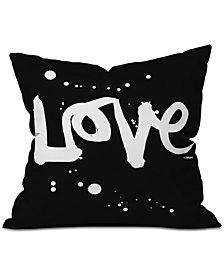 Deny Designs Kal Barteski Love Black Throw Pillow
