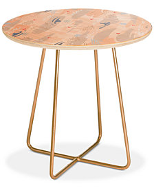 Deny Designs Iveta Abolina Happy Friday Round Side Table