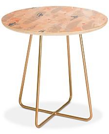 Deny Designs Iveta Abolina Happy Friday Round Side Table