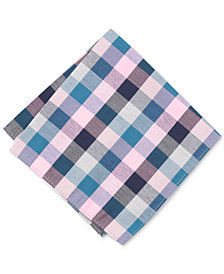 Bar III Men's Carvec Check Pocket Square, Created for Macy's