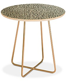 Deny Designs Holli Zollinger DECO LEOPARD Round Side Table