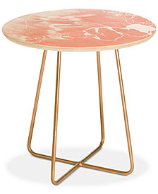 Deny Designs Emanuela Carratoni Pink  with White Round Side Table