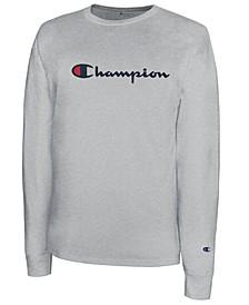 Men's Script-Logo Long Sleeve Tshirt