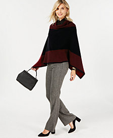 Charter Club Pure Cashmere Chevron Poncho, Created for Macy's