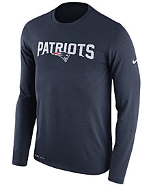 Nike Men's New England Patriots Essential Lock Up Long Sleeve T-Shirt