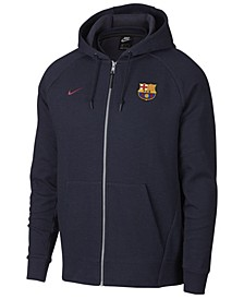 Men's FC Barcelona Club Team Full-Zip Optic Hoodie