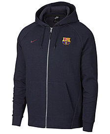 Nike Men's FC Barcelona Club Team Full-Zip Optic Hoodie