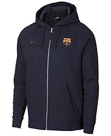 Nike Men's FC Barcelona Club Team Full-Zip Optic Hoodie