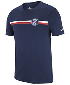 Men's Paris Saint-Germain Team Stripe Crest T-Shirt